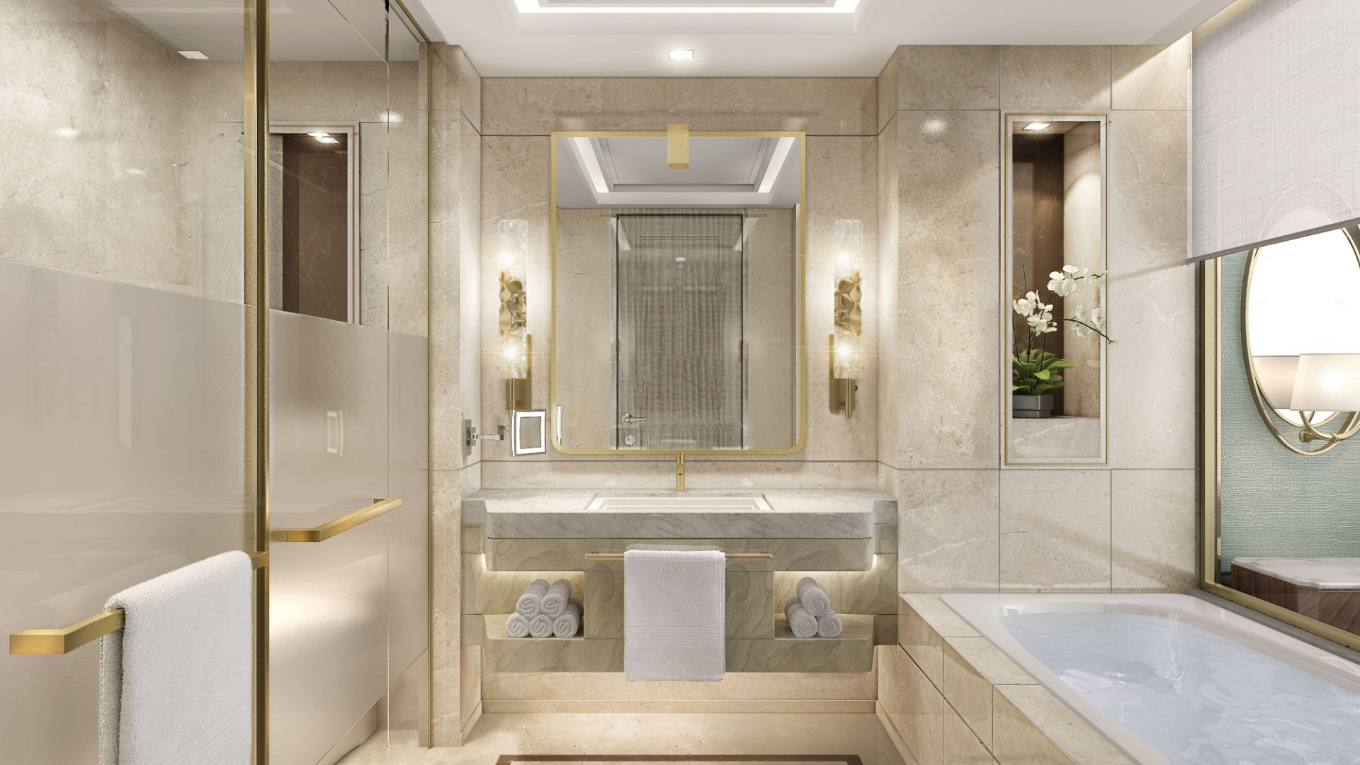 | Bathroom with Luxury Amenities